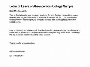 Leave Of Absence Letter  Free Printable Doents