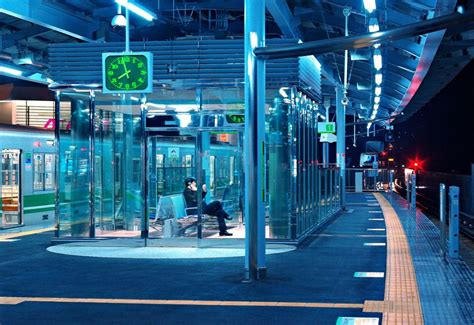 blue lights  train platforms combat tokyos suicide