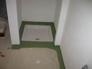 fin de la salle de bain autoconstruction maison basse With carrelage adhesif salle de bain avec kit led auto