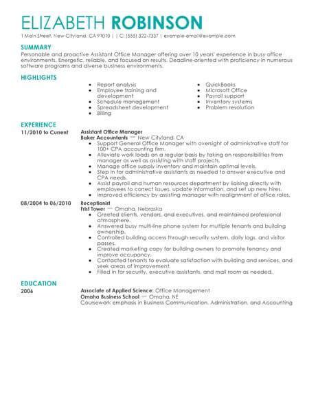 best admin assistant manager resume exle livecareer