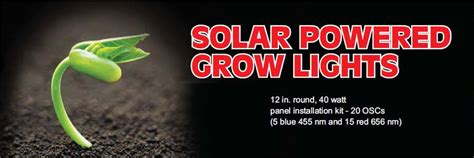 solar powered grow lights solar power sun system grow lights