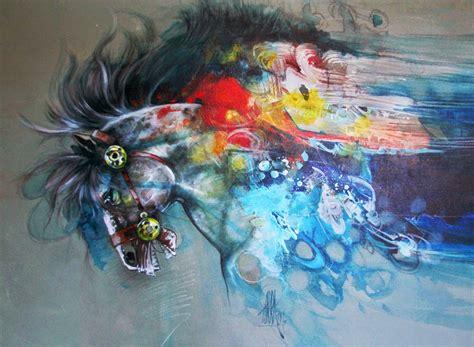 Pintura Moderna Y Fotografía Artística Dibujos Caballos
