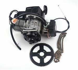 43cc 47cc 49cc 2 Stroke Engine Motor Mini Quad Rocket Pocket Bike Sprocket And Chain