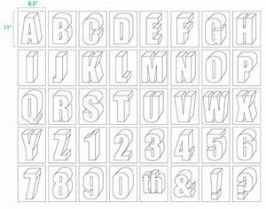 large size alphabet letter printable alphabet art With large 3d letters