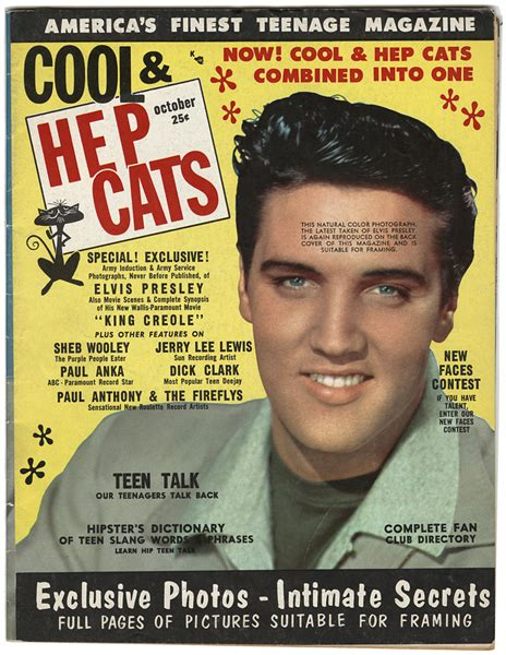 lot detail cool hep cats magazine featuring elvis
