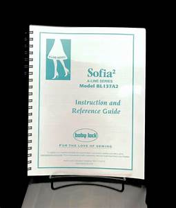 Baby Lock Sofia 2 Bl137a2 Instructions User Guide Manual