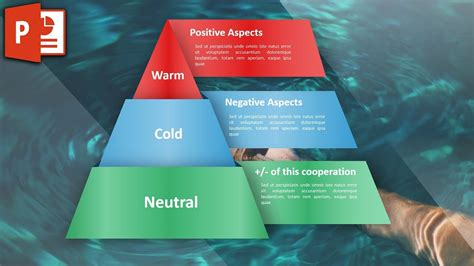 modern infographic  powerpoint triangle chart design