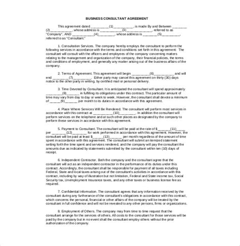 Consulting Terms And Conditions Template by 12 Consulting Agreement Templates Free Sle Exle