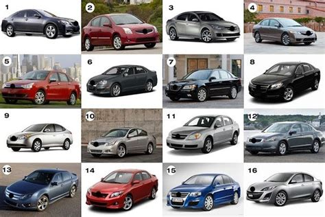 Different Names Of Cars With Pictures (all Car Types