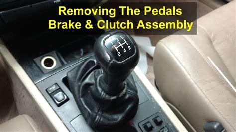 removing  pedals brake  clutch volvo