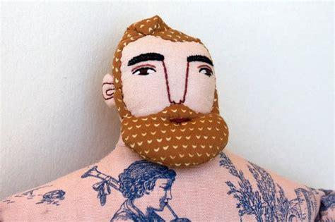Big Blond Man With Tattoos Beard Doll Toile Circus