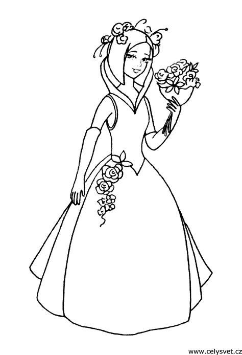 omalovanka pro divky nevesty svatba laska
