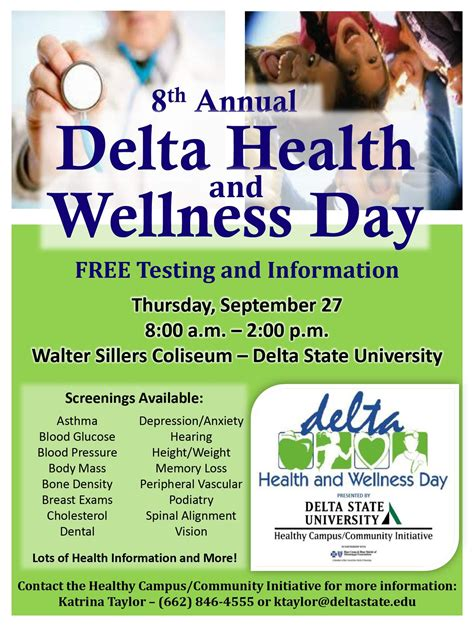 8th Annual Delta Health And Wellness Day  News And Events