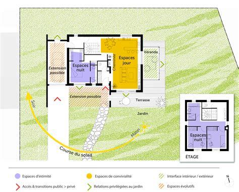 plan chambre avec salle de bain plan maison à étage de 110 m avec véranda ooreka