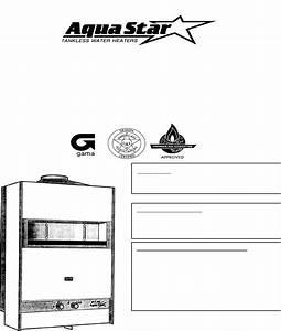 Aquastar Water Heater 170 Vp User Guide