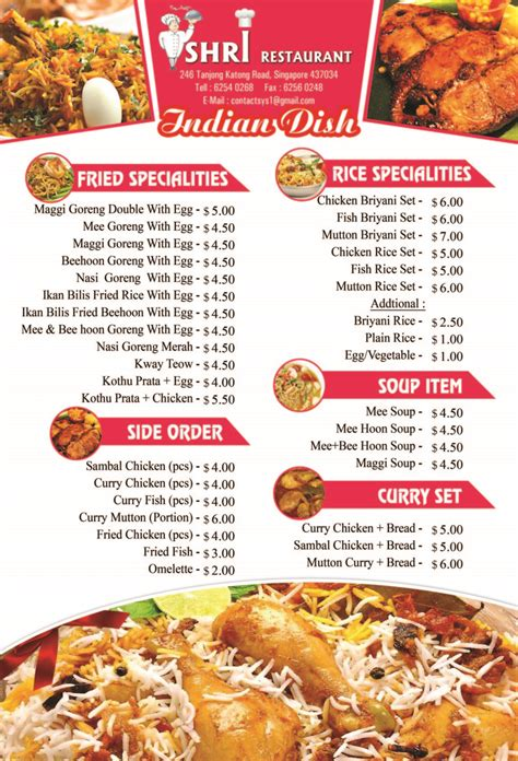 indian cuisine menu food menu shrirestaurant com