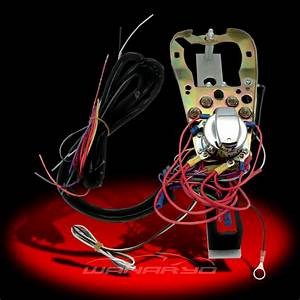 Dash Base With Wire Harness Kit For Harley Flat Side Tanks