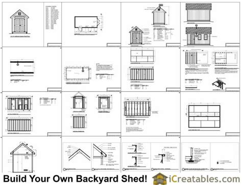 8x16 Shed Material List by 8x16 Traditional Backyard Shed Plans