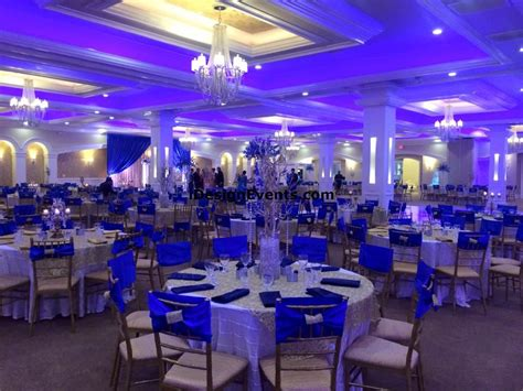 royal blue white and gold wedding