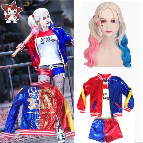 harley quinn kostüm kinder harley quinn costume joker squad purim jacket sets