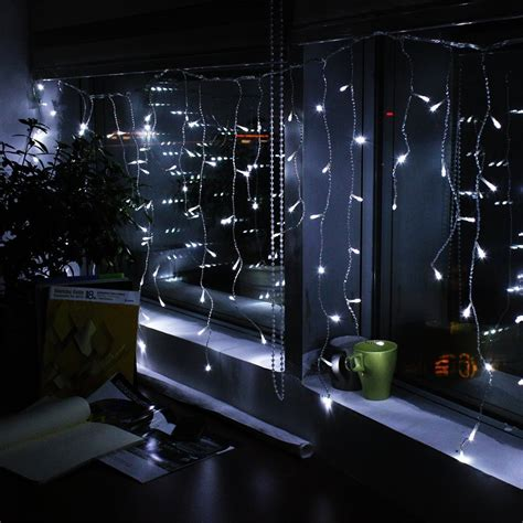 cool white led icicle string lights 3pcs lot ac220v icicle lights led 4m 96leds 9color 8
