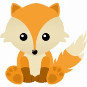 Kawaii Cute Fox Cub Cartoon   Free Images at Clker.com ...