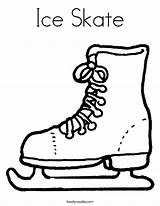 Coloring Ice Skating Skate Outline Popular sketch template
