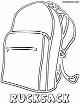Backpack Coloring Pages Colorings sketch template