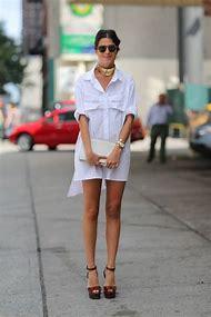 White Shirt Dress Street-Style