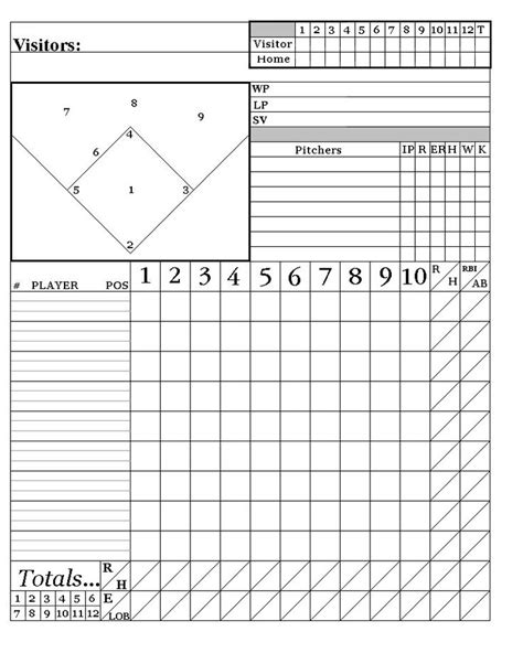 printable baseball score sheets    system