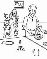 Coloring Pages Maddie Cooking Kitchen Father Omelette Omelet Liv Printable Sketch Template Getcolorings sketch template