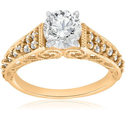 5 8ct vintage engagement ring 14k yellow gold filigree deco solitaire ebay