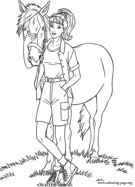 barbie barbie  tawny coloring page coloring page