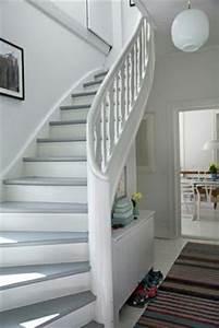 Holz Weiß Streichen : treppe weiss mit holz naturbelassen pure flur pinterest treppe weiss und holz ~ Markanthonyermac.com Haus und Dekorationen