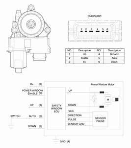 Hyundai Azera  Power Window Motor Schematic Diagrams - Power Windows