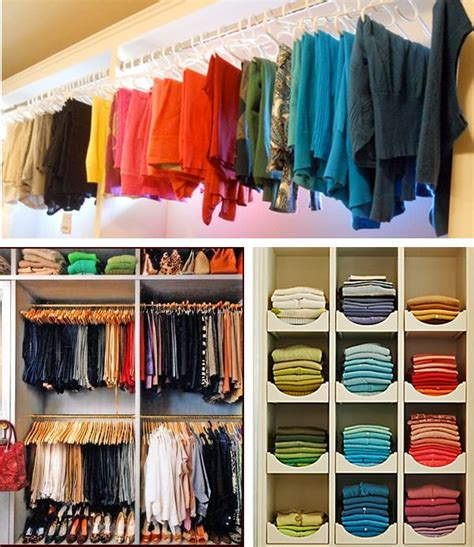 25 best ideas about color coded closet on