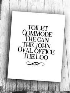 Printable Funny Bathroom Wall Art