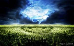 Download Storm Clouds Over Wheat Field Wallpaper ...