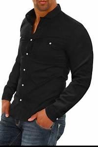 Chemise Jean Noir Homme : chemise homme italienne noir pas cher 344 pour ~ Melissatoandfro.com Idées de Décoration