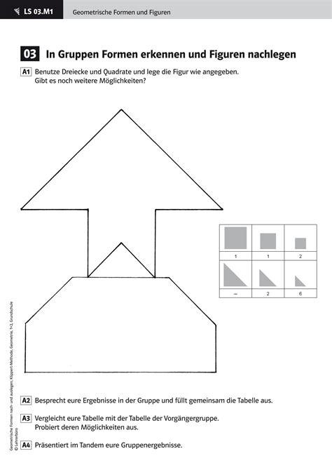 Bild Geometrische Formen by Arbeitsbl 228 Tter 183 Grundschule 183 Lehrerb 252 Ro