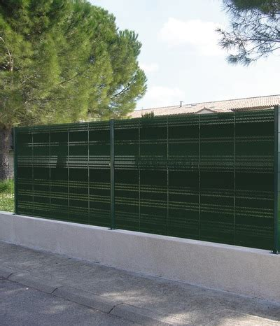 occultant pour panneau de grillage en acier galvanis 233 h 1 65 m l 50 cm colori vert mousse