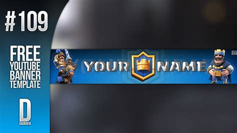 Banner Template De Clash Royale by Clash Royale Youtube Banner Template 109 Free Photoshop