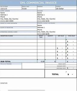 dhl commercial invoice template uk download dhl commercial With commercial invoice template uk