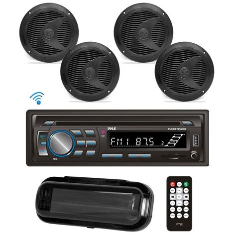 Boat Speakers Dj by Pyle Plcdbt95mrb Bluetooth Marine Stereo Radio Receiver
