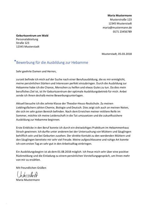 Vorlage Bewerbung Ausbildung by Praktikum Bankkaufmann Bewerbung