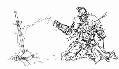 Souls Dark Coloring Agacross Sketch Pages Deviantart