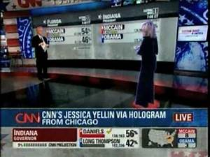 CNN High-Tech Star Wars Hologram Election Coverage - YouTube