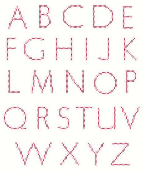 grafico alfabeto letras finas revista artesanato