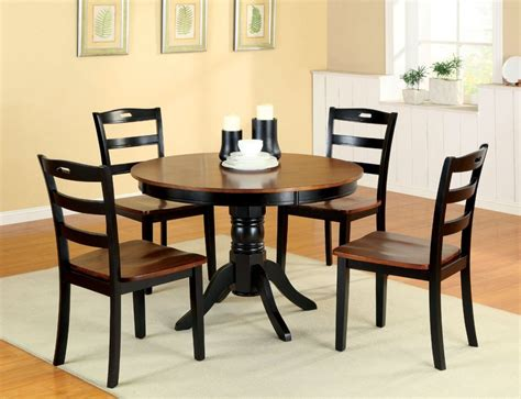 round wood dining room table small kitchen dining tables two tone round wood dining
