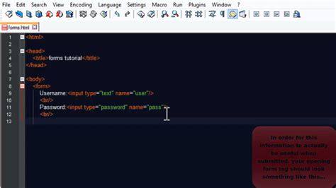 username password html html username and password tutorial